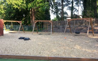 Springtime Daycare Playground Panoramic View #5