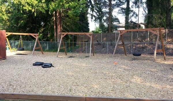 Springtime Daycare Playground Panoramic View #5