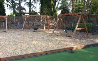 Springtime Daycare Playground Panoramic View #6