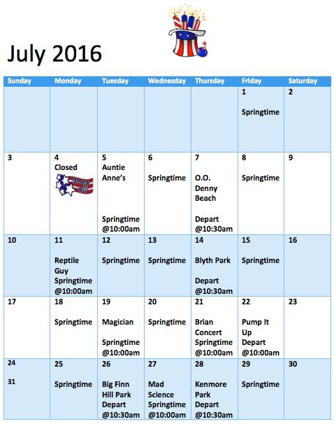 preschool summer camp schedule summer programs springtime daycare and preschool 260