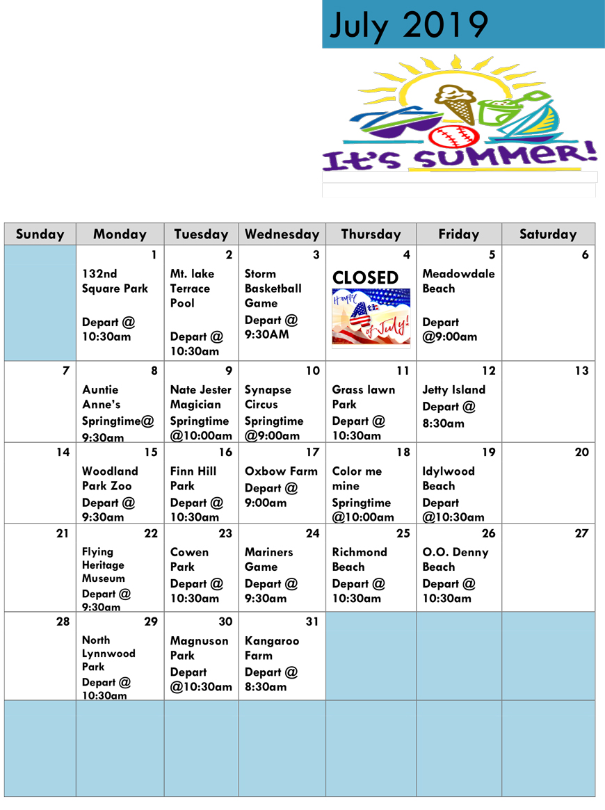 Summer Programs - Springtime Daycare and Preschool